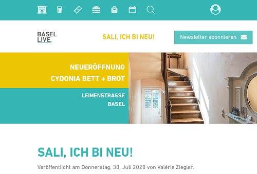 Screenshot basellive.ch